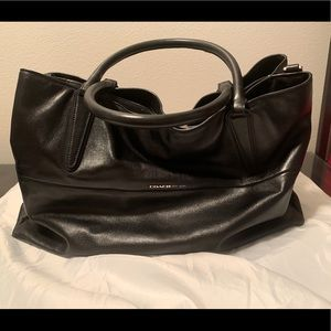 Coach borough bag large soft leather